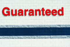Guaranted sign Stock Photography