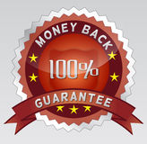 Guarantee 100% money back Royalty Free Stock Image
