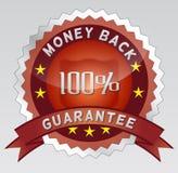 Guarantee 100% money back. 100 percentage money back guarantee badge illustration Royalty Free Stock Image