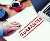 Guarantee Assurance Certified Quality Trustworthy Concept Stock Photos