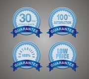 Guarantee badge blue Royalty Free Stock Photos