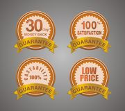 Guarantee badge brown Royalty Free Stock Photography