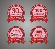 Guarantee badge red Royalty Free Stock Image
