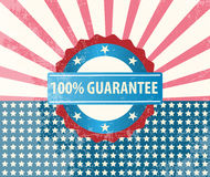 100% guarantee badge Stock Image