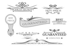 Guarantee and best price sticker Stock Photography