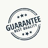 Guarantee best quality stamp. Vector royalty free illustration