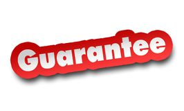 Guarantee concept 3d illustration isolated. On white background Royalty Free Stock Photography