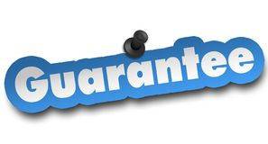 Guarantee concept 3d illustration isolated. On white background Stock Photo