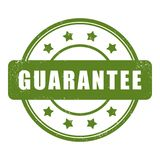 Guarantee grunge rubber stamp.  stock illustration