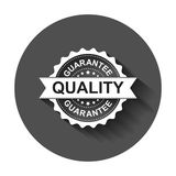 Guarantee grunge rubber stamp. Vector illustration with long shadow. Business concept quality stamp pictogram. vector illustration