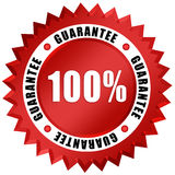 Guarantee icon. Guarantee seal isolated on white Stock Image