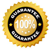 Guarantee icon. 100 percent guarantee star label Stock Photo