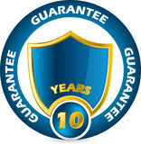 Guarantee icon design. In blue and gold colors Royalty Free Stock Image