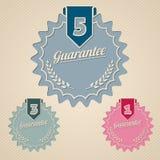 Guarantee icon set flat style Stock Photos
