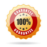 Guarantee icon. On white background Stock Photography