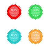 Guarantee icons. In some colors: red, green, blue and orange Stock Photography