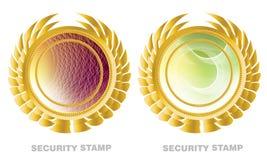 Guarantee label. Golden guarantee and warranty label Stock Image