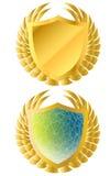 Guarantee label. Golden guarantee and warranty label Royalty Free Stock Photos