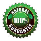 Guarantee label. Vector illustration of natural guarantee label vector illustration