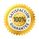 Guarantee label. Vector illustration of a satisfaction guarantee label Royalty Free Stock Images