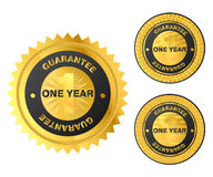 Guarantee label. Money back golden label Royalty Free Stock Photography