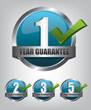Guarantee label button set Royalty Free Stock Photo