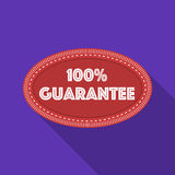 Guarantee label icon in flat style isolated on white background. Label symbol stock vector illustration. Guarantee label icon in flat style isolated on white stock illustration