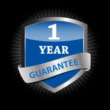 Guarantee label shield vector illustration Royalty Free Stock Image