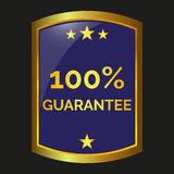 Guarantee label vector. Guarantee label on black background, vector illustration Royalty Free Stock Photography