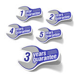 Guarantee labels Stock Photo