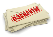 Guarantee letters  (clipping path included) Stock Photography