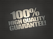 Guarantee message on metalic mesh background Royalty Free Stock Images
