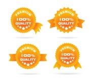 Guarantee orange label Royalty Free Stock Photos