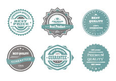 Guarantee, premium quality and best choice vector vintage Royalty Free Stock Image