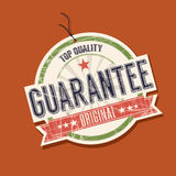Guarantee product tag. Illustration Stock Photos