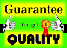Guarantee Quality. Company motto who gives guarantee quality, created in Coreldrw10 Royalty Free Stock Photography