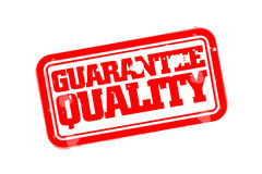 Guarantee quality rubber stamp Stock Photography