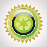 Guarantee recycle button Royalty Free Stock Photo