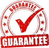 Guarantee red stamp. Illustration of guarantee red stamp on white background Stock Images