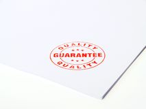 Guarantee Rubber stamp Royalty Free Stock Images