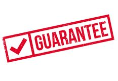 Guarantee rubber stamp Royalty Free Stock Photos