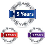 Guarantee seal designs. With metal and ribbon Stock Illustration