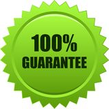 Guarantee seal stamp green. Vector illustration isolated on white background - guarantee seal stamp green Royalty Free Stock Photos