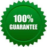 Guarantee seal stamp green. Vector illustration isolated on white background - guarantee seal stamp green Royalty Free Stock Image
