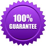 Guarantee seal stamp violet 皇族释放例证