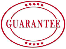 Guarantee stamp. A mark or sign to signify item is guaranteed Royalty Free Stock Image