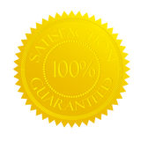 Guarantee stamp. A 100% satisfaction guarantee stamp Royalty Free Stock Photo