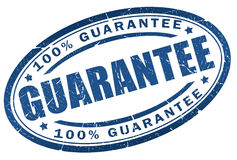 Guarantee stamp. Guarantee blue stamp on white background Stock Photography