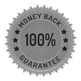 Guarantee stamp isolated on white. Guarantee stamp ribbon and badge style design element on white background Royalty Free Stock Image