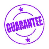 Guarantee stamp. Quality guarantee stamp sign icon - editable vector illustration on isolated white background royalty free illustration